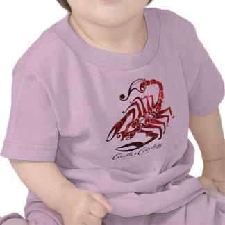 Ropa del bebé de la astrología del escorpión camiseta