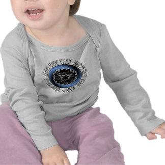 Ropa del bebé de la Feliz Año Nuevo 2 Camisetas