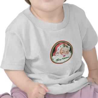 Ropa del bebé de las Felices Navidad Camisetas