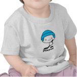 Ropa del bebé del jugador (hockey) (más estilos) camiseta