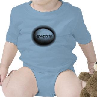 Ropa del bebé del modelo de tierra del planeta traje de bebé