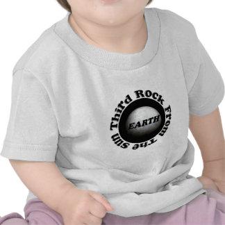 Ropa del bebé del modelo de tierra del planeta camisetas