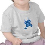 Ropa del bebé del robot del bebé azul camiseta