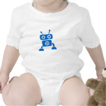 Ropa del bebé del robot del bebé azul traje de bebé