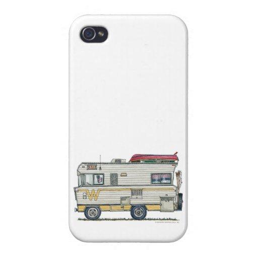 Ropa del campista rv del Winnebago iPhone 4/4S Carcasas