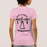 Ropa del club del Barbell de la escuela vieja para Camiseta
