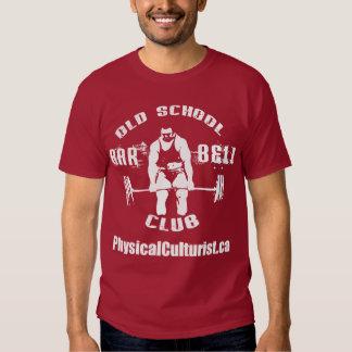Ropa del club del Barbell de la escuela vieja Remeras
