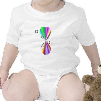 Ropa del corazón del arco iris trajes de bebé