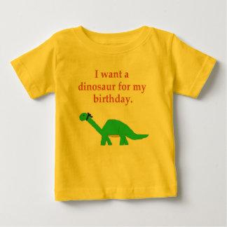 Ropa del dinosaurio del cumpleaños playeras