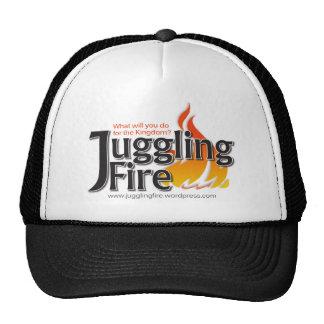 Ropa del fuego que hace juegos malabares gorras de camionero
