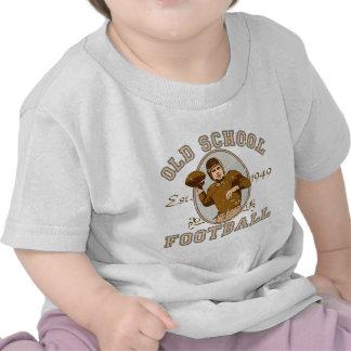 Ropa del fútbol de la escuela vieja camiseta