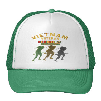 Ropa del guerrero del veterano de Vietnam Gorro De Camionero
