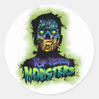 Ropa del logotipo de los monstruos de la primera pegatina redonda