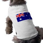 Ropa del mascota con la bandera de Australia Playera Sin Mangas Para Perro