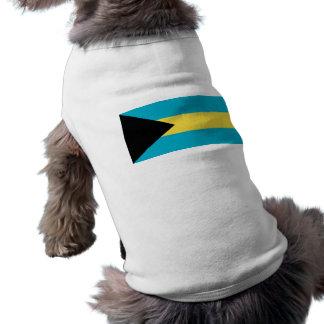 Ropa del mascota con la bandera de Bahamas Playera Sin Mangas Para Perro