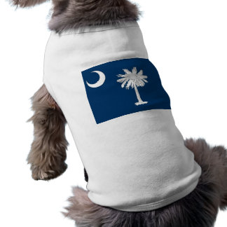 Ropa del mascota con la bandera de Carolina del Playera Sin Mangas Para Perro