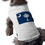 Ropa del mascota con la bandera de Carolina del Su Camiseta De Perrito