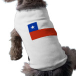 Ropa del mascota con la bandera de Chile Playera Sin Mangas Para Perro
