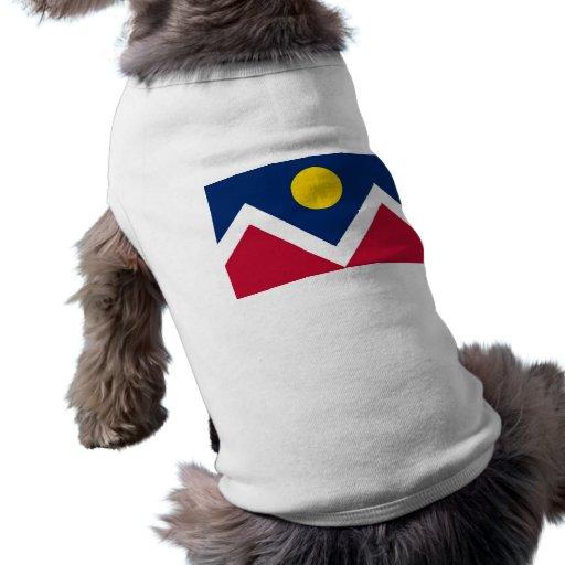 Ropa del mascota con la bandera de Denver, Colorad Camisas De Mascota