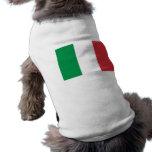 Ropa del mascota con la bandera de Italia Playera Sin Mangas Para Perro