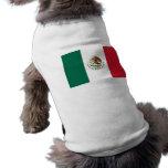 Ropa del mascota con la bandera de México Playera Sin Mangas Para Perro