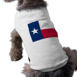 Ropa del mascota con la bandera de Tejas, los E.E. Camisetas De Mascota