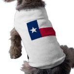 Ropa del mascota con la bandera de Tejas, los Playera Sin Mangas Para Perro