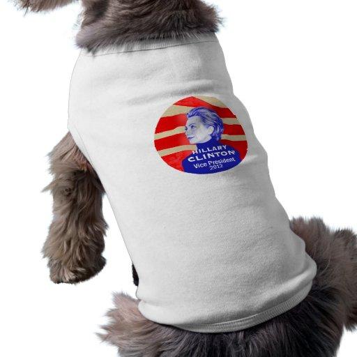 Ropa del mascota de Clinton 2012 VP Camiseta De Perrito
