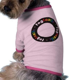 Ropa del mascota de Fagtastic (círculo) Camiseta De Mascota