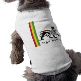 Ropa del mascota de Judah del mollete de Raga Playera Sin Mangas Para Perro