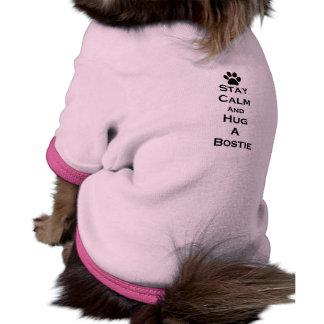 Ropa del mascota de la calma de la estancia camiseta de mascota