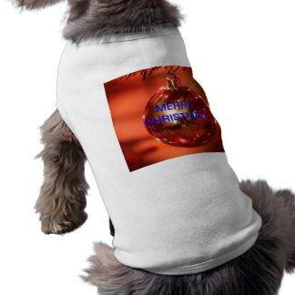 Ropa del mascota de la CAMISETA de las FELICES NAV Playera Sin Mangas Para Perro