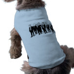 Ropa del mascota de la cuadrilla de la rabia playera sin mangas para perro