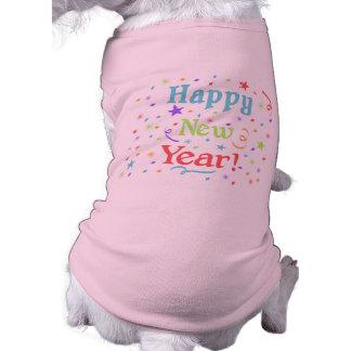 Ropa del mascota de la Feliz Año Nuevo Playera Sin Mangas Para Perro