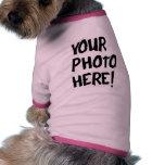 Ropa del mascota de la foto camisetas de perrito