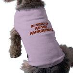 Ropa del mascota de la gestión de la cólera camisetas de perro