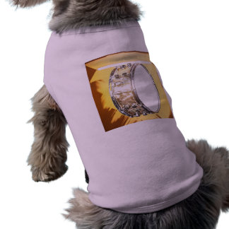 Ropa del mascota de la imagen del tambor camisetas de perro