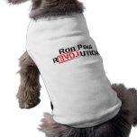 Ropa del mascota de la revolución de Ron Paul Camisa De Mascota