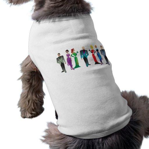 Ropa del mascota de las huéspedes de la cena camiseta de mascota