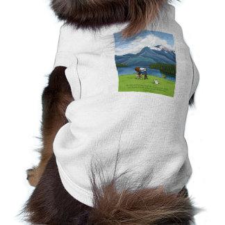 Ropa del mascota de las montañas de la pintura ropa para mascota