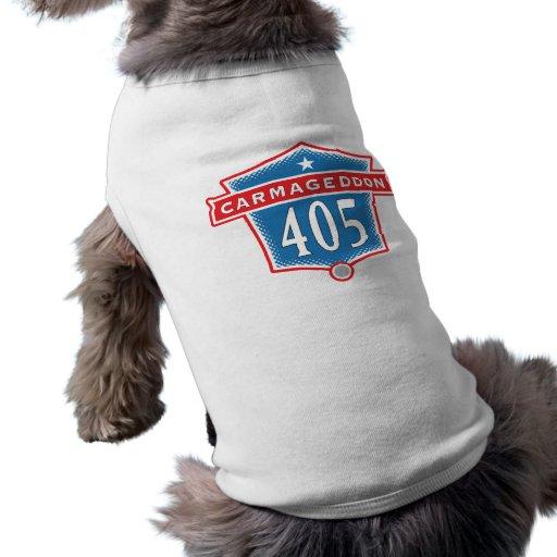 Ropa del mascota de Los Ángeles de la autopista si Playera Sin Mangas Para Perro