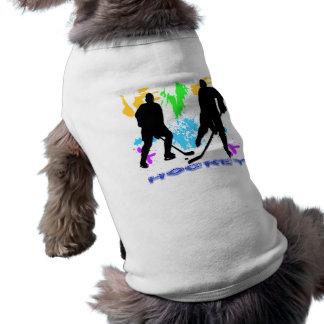 Ropa del mascota de los jugadores de hockey camiseta de perrito