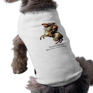 Ropa del mascota de Napoleon Bonaparte Playera Sin Mangas Para Perro