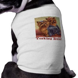 Ropa del mascota de Yorkshire Terrier Camisa De Mascota