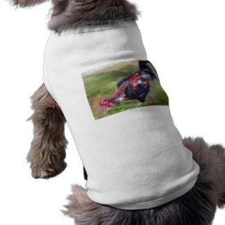 Ropa del mascota del aceo del gallo camiseta de perro