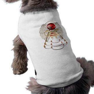 Ropa del mascota del ángel de las Felices Navidad Playera Sin Mangas Para Perro