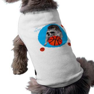 Ropa del mascota del baloncesto playera sin mangas para perro