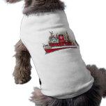 Ropa del mascota del barco del fuego camisas de mascota