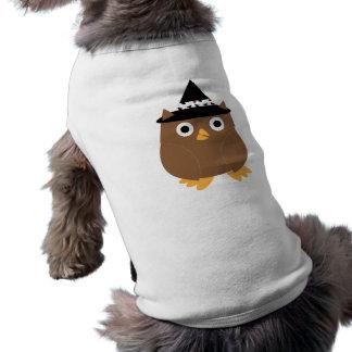 Ropa del mascota del búho de Halloween Playera Sin Mangas Para Perro
