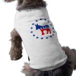 Ropa del mascota del burro de Demócrata Ropa De Mascota